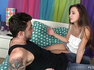 Extremely Hot Teen Babe Loves This Cock