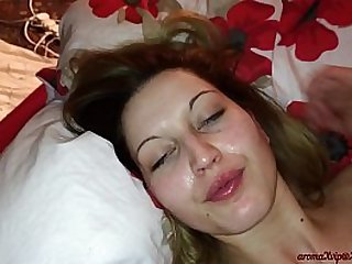 Ass licking and the best homemade blowjobs with cum all over my girl face, Compilation!