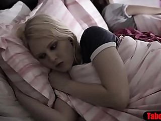 Teenie lured into rough fuck by pervy stepsiblings