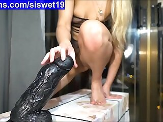 Training with Big Dildo's *** My FREE Chatroom is SiswetLive.com/siswet19