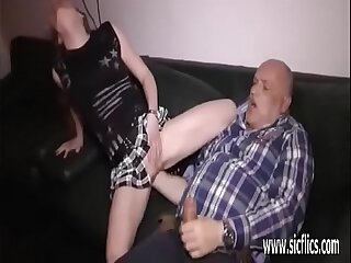 Old pervert fisting young sluts wrecked pussy