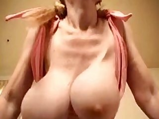 Huge Natural Tits Young & Old compare their Huge breasts. Grandma's sag lower