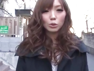 Megu Kamijo moans hard while having cock in her mouth