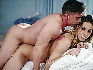 Blonde Nurse TGirl Casey Kisses helps her patient cum