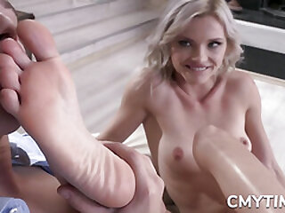 Horny Blonde drilled from behind