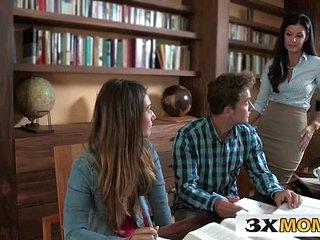 Horny MILF Teaches Her Stepdaughter to Fuck Boyfriend - India Summer, Eva Lovia