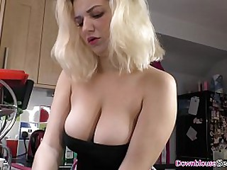 Hot ass brunette chicks with amazing natural tits enjoying teasing their viewers with their big boobs at home.