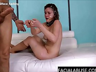 Hillbilly 18 year old gets DP´d and facefucked until breaking down