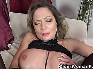 Glamorous mature Jane Sweet rubs and fingers her lubed slit in interesting lingerie (brand NEW video available in Full HD 1080P). Bonus video: Euro mature Sunny.